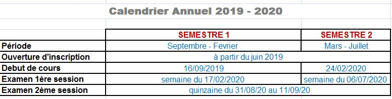 - calendrier non disponible -
